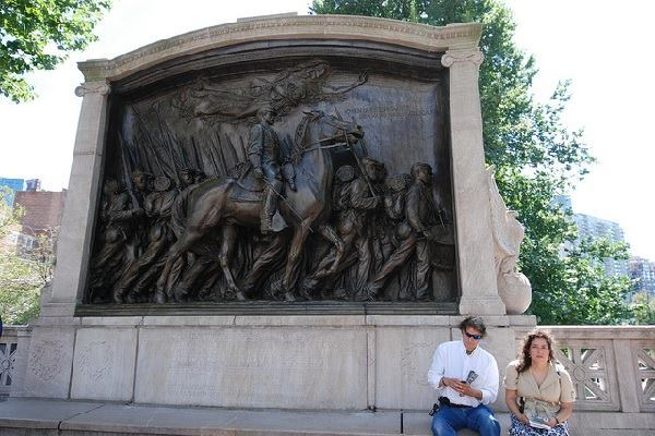 The Robert Gould Shaw and the Massachusetts 54th Regiment Memorial in Boston