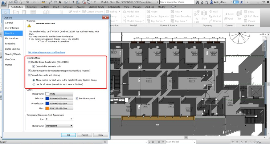 Revit 2017 features an improved view refresh and navigation performance.