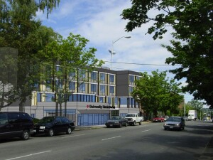 In ­Seattle, the Low Income Housing Institute and University District Food Bank recently broke ground on University Commons and the University District Food Bank. The housing will include 49 apartments on three upper floors. New and expanded space for the University District Food Bank will be located on the first floor. (Courtesy of Runberg Architecture Group)
