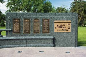 Granite war memorial improved
