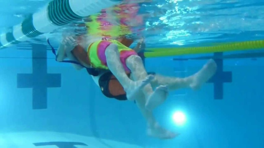 Lifeguarding Drill: Kickback, Flutter Kick Variation