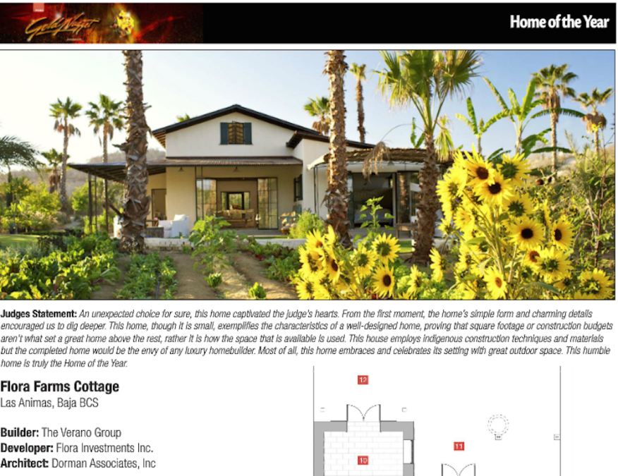 Gold Nugget Home of the Year, Flora Farms Cottage, Dorman Associates, Inc