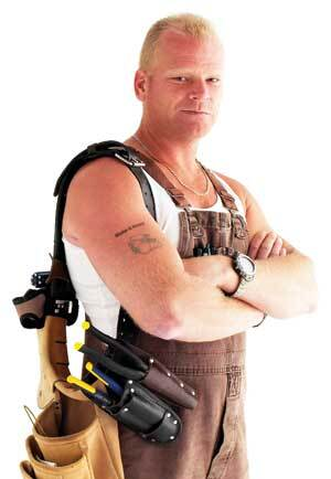 "TATTOO U.: Mike Holmes shows his true colors with the ""Make It Right"" tattoo on his arm. That's no mere bit of whimsy. Rather, it's the brawny builder's personal mission statement as he exposes the work of bad contractors on his cable TV show."