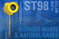 Flow meter measures blended waste and natural gases