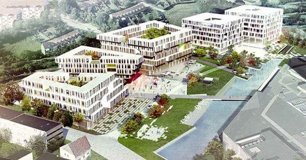 Microsoft headquarters in Lyngby-Taarbæk, Denmark, designed by Henning Larsen.