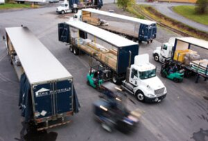 Erie Materials delivery trucks