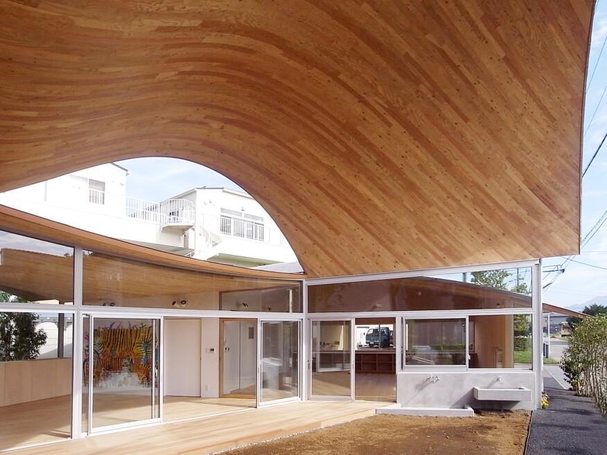 Toranoko Nursery Laminated Veneer Lumber Roof Architect