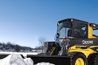 Snow utility V-blade attachments from John Deere
