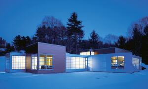 The clients for a 2,300-square-foot house and studio were referred to Hutker Architects by colleagues of the firm.
