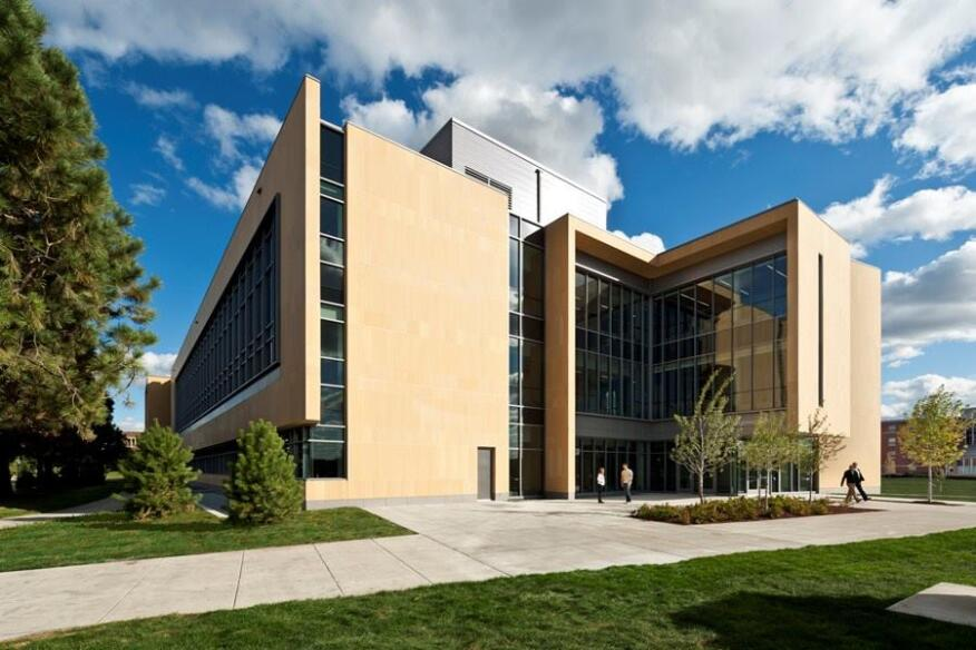 Beck Academic Hall - Northwest entrance.