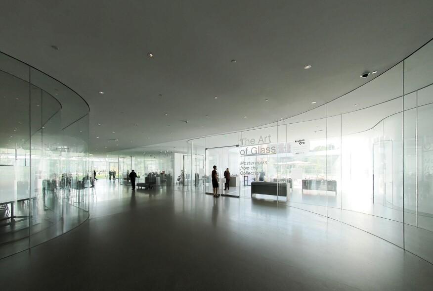 Enveloped in glass. Glass Pavilion by SANAA, Toledo Art Museum, Toledo, Ohio, 2006.