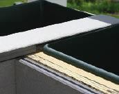 Figure 8. The top of the planter is made from composite decking rabbeted to overlap the liner rims.