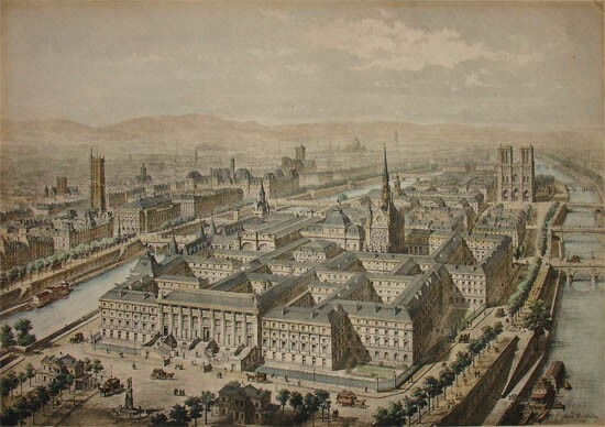 A print of the Palace of Justice c. 1859