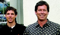 LANDSCAPE DESIGNERS: The Redmon Design Co. team, from left to right: Drew Meeker, project manager; Scott Redmon, owner