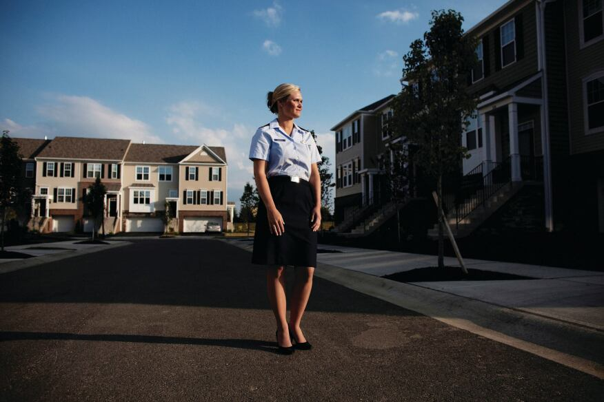 Woman's Intuition: Part-time Air National Guard reservist Kristen Wenrick, 26, looked for six months and used her VA loan to buy her Columbus, Ohio, townhouse from M/I Homes.