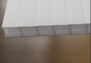 Coroplast is a sheet product that has continuous parallel flutes along its length. In a 3/8-inch thickness, it can be used to form an excellent rainscreen.