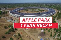 Apple Park's Construction Progress Over the Last Year