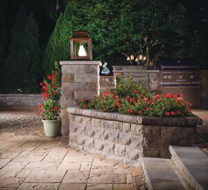 "For light commercial and residential retaining wall systems where aesthetics are a key consideration, BelAir Wall, a Belgard Hardscapes brand, meets demands. The system can be installed in a random pattern using any combination of units so long as vertical lines do not span more than 18"" in height. Random patterns are created using an equal square footage of 3""- and 6""-high units. belairwall.com"