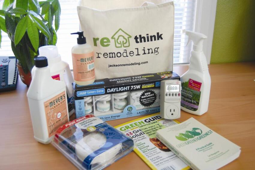 Green-Themed Gift Bag for Clients Is Part of This Remodeler's Completion Process