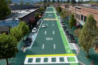 The Blacktop Goes Green with Solar Roadways