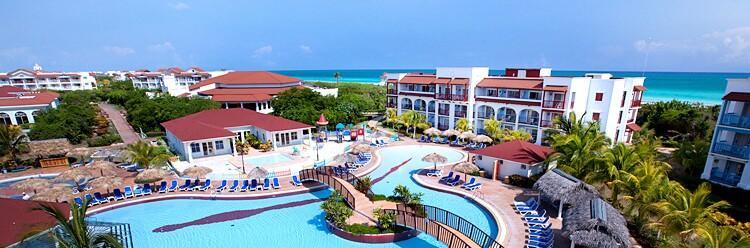 Paraiso Azul Resort, a recent development on the Cayo Santa María, an island off the Cuban coast