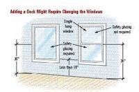 Safety Glass in Windows Onto Decks