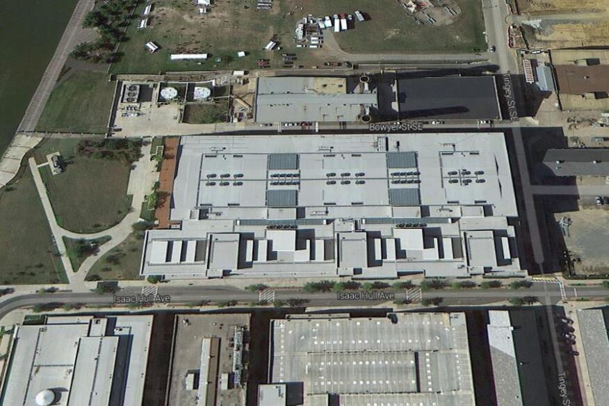 Navy Yard aerial image courtesy of Google Maps, 2013. Building location from TheWashington Post.