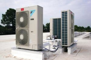 A variable refrigerant volume system (VRV) serves the first floor and learning center. The non-ozone-depleting refrigerant, individual zone control capabilities and heat-recovery technologies all play a role in helping the facility meet its sustainability and energy goals.