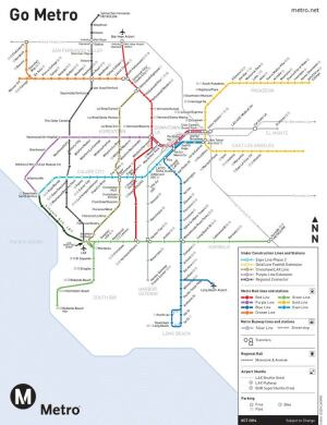 A concept map, designed by Rail LA advocate Alexander Freidman, of what the Los Angeles routes could look like versus their current state.