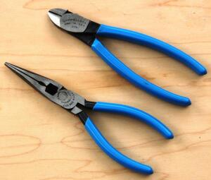 """Channellock's E326 6"""" XLT long nose plier and E336 6"""" XLT diagonal cutting plier are thinner/sleeker than conventional tools of their kind."""