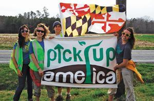 So far, Pick Up America has walked more than 340 miles and removed more than 37,000 pounds of solid waste from the nation's landscape. Photos: Pick Up America.