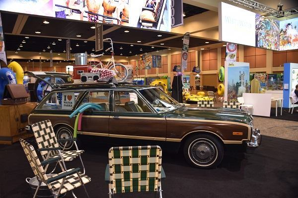 A 1976 Dodge Aspen helped WhiteWater West earn the Best Booth Award at the WWA Show in October.