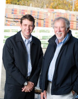 Chris Neumann (left) executive vice president, and Bob Neumann, president and owner
