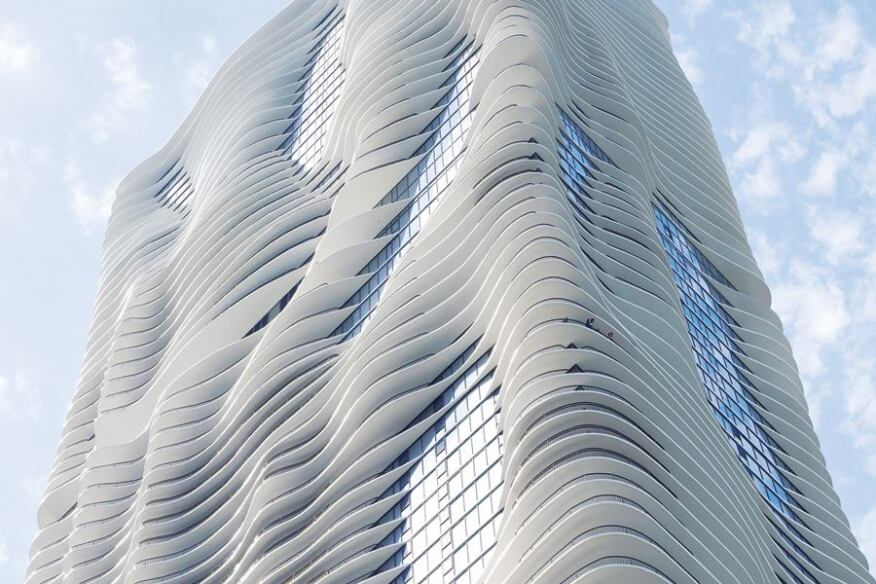 Aqua Tower in Chicago.