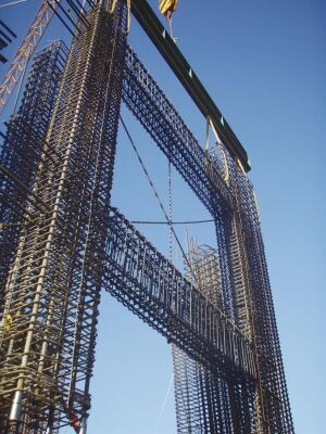 Structural designs that allow pretying of rebar cages offsite or on the ground improve productivity. Early coordination between the structural engineer and contractor are key.