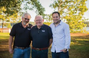 Three generations: Brian, Eugene and Darrel Short (L-R) have been key to Custom Pools' success.