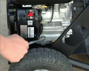 Checking to make sure all bolts are tight can prevent vibration and damage to a machine's engine. Photos: Robin Subaru