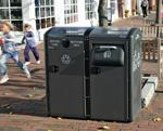 Solar-powered waste collection