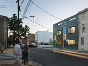 The LEED Platinum 100K prototype earned the distinction of USGBC LEED for Homes 2010 Project of the Year. Now Interface Studio Architects and developer Postgreen Homes, both in Philadelphia, are developing a production line of customizable larger models with more conventional layouts and finishes, but with the same exacting energy benchmarks.