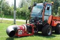 Articulated compact tractor