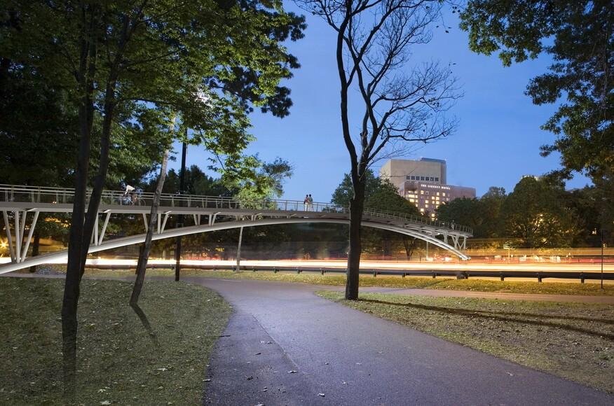 custom pedestrian bridges boston esplanade pedestrian bridge architect magazine rosales