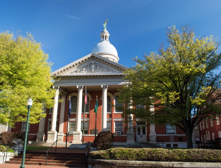 The courthouse in Augusta County, Va.