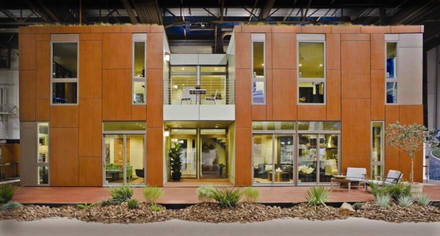 Boxes and Panels: Shipped in parts and assembled on the show floor of the Las Vegas Convention Center in just four days, the Builder LivingHome was an experiment in modular efficiency.