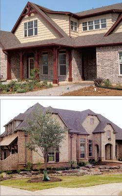 The houses in the Green Built Parade of Homes feature green elements that meet the Green Built North Texas criteria in six categories, including a category on homeowner education.