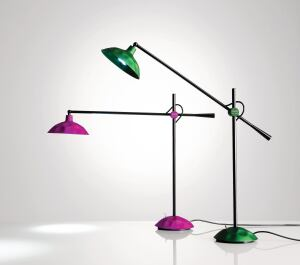 Designed by Jahara Studio, the new Batucada Light is manufactured by Via Light. This LED task lamp is constructed from hammered anodized aluminum. The metal shade reflects light, increasing illumination on the desk surface. Colors options include green, yellow, purple, and black. More colors will be released annually. ¢ jaharastudio.com
