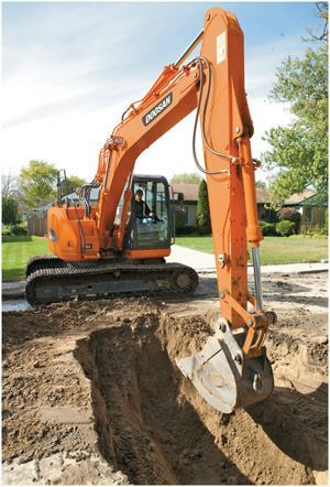 As an alternative to using cash reserves to purchase equipment such as this excavator, tax-exempt municipal leases can usually be structured with flexible payment terms to meet the individual needs of government bodies. Photo: Doosan Infracore Construction Equipment America