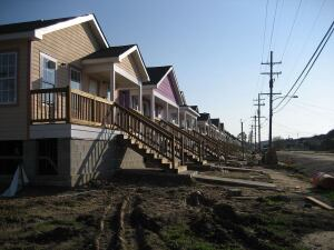Housing in New Orleans's Upper 9th Ward.