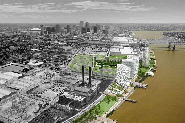 The Reinventing the Crescent Development Plan designed by Eskew+Dumez+Ripple won the 2012 AIA National Honor Award for Regional & Urban Design, 2010 AIA Louisiana Honor Award, and the 2008 AIA New Orleans Honor Award.