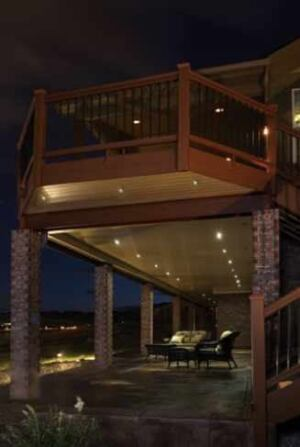 wiring for low voltage lighting professional deck builder low voltage lighting isn t just post caps a wide variety of fixtures provide general decorative accent and safety lighting