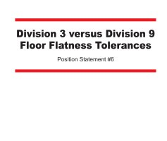 Position Statement on Floor Flatness Tolerances